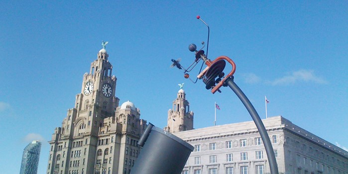 Liverpool Liver Building and Sculpture