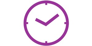 Icon of a clock showing a time