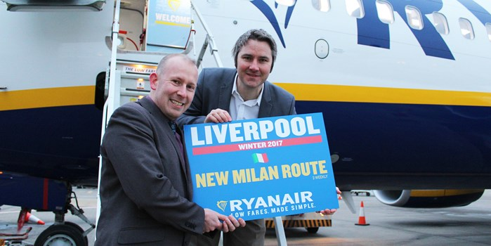 Ryanair Milan Announcement