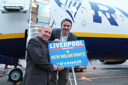 Ryanair to fly to Milan from Liverpool