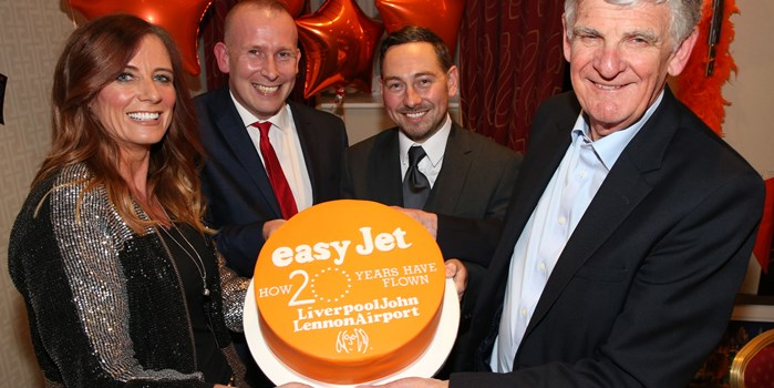 easyJet celebrates its 20th birthday at Liverpool John Lennon Airport