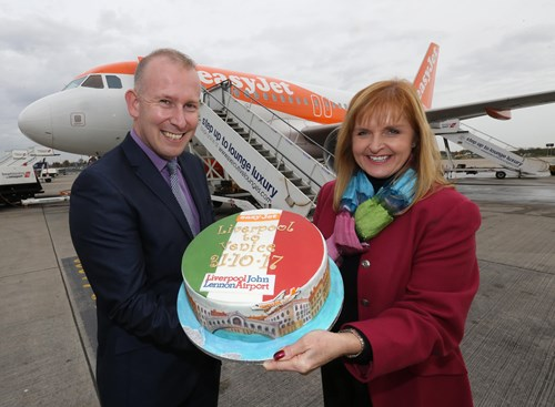 Celebrating easyJet's inaugural flight to Venice