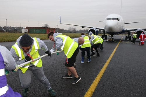 Team Matalan at the LJLALoves Plane Pull