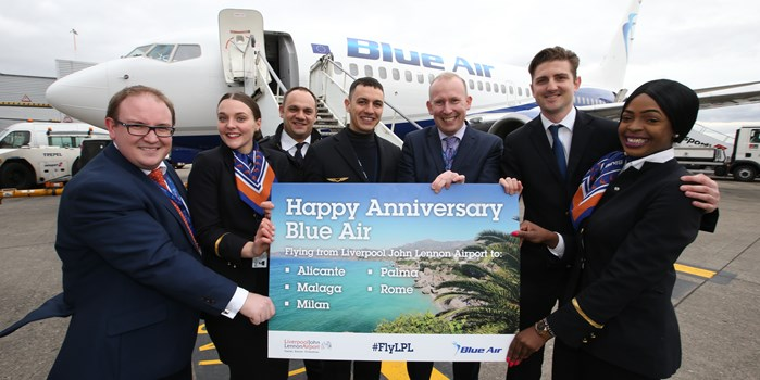 Blue Air one year anniversary