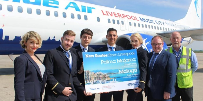Summer starts with new Blue Air flights to Majorca and Malaga direct from LJLA