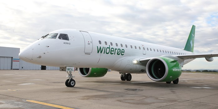 Wideroe aircraft at Liverpool John Lennon Airport