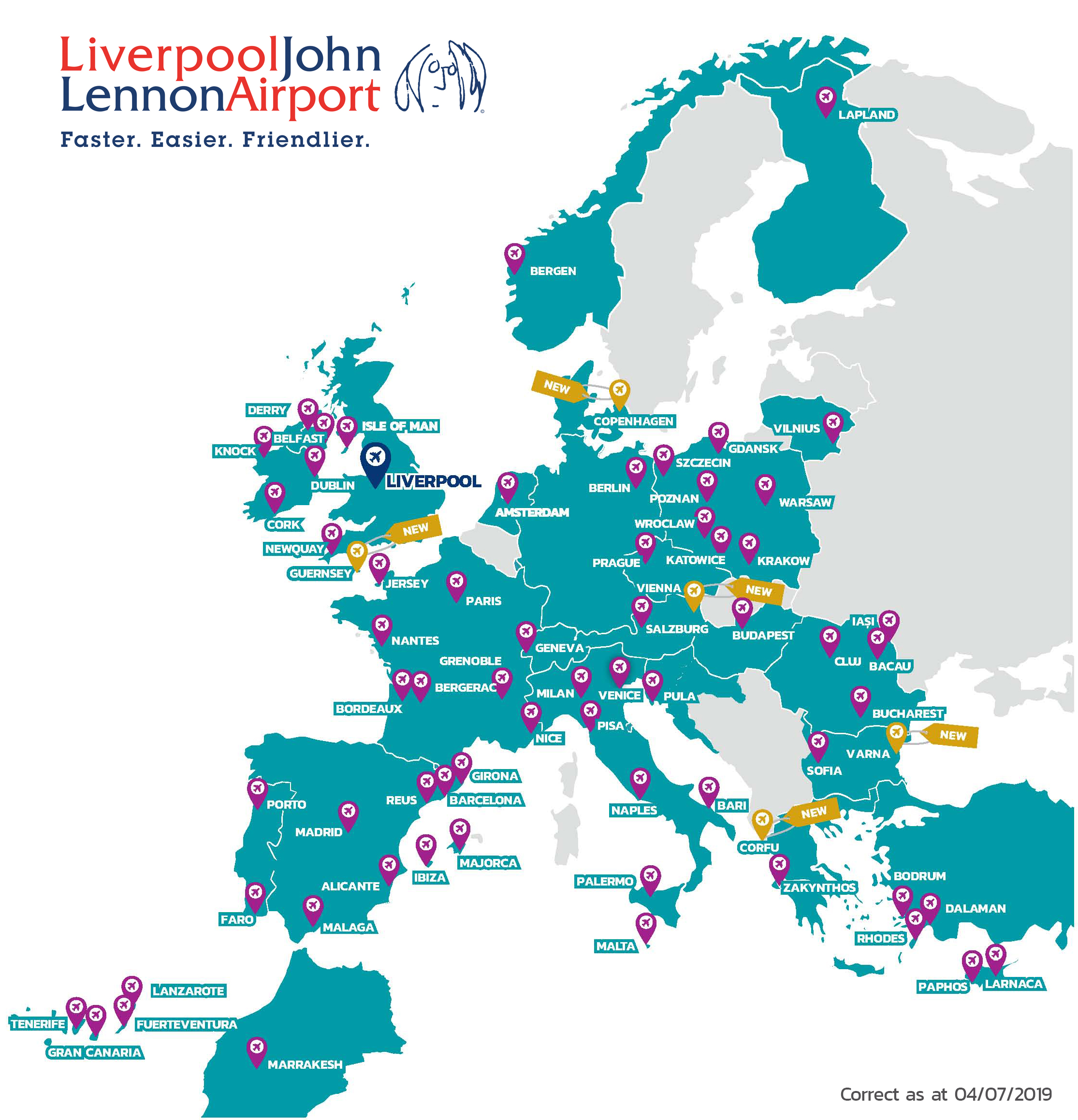 Destinations from Liverpool John Lennon Airport
